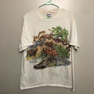 Reptiles of North America graphic tee large